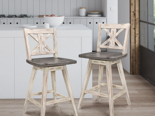 Roux Swivel Counter Height Chair  Set of 2  Retail 242 49