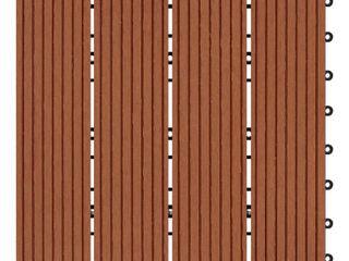 Clay Finish Bamboo Composite Deck Tile  11 Sq  Ft Carton    Retail  63 49 set
