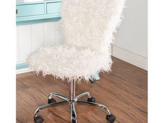 Clara Faux Fur Armless Office Chair  Retail 126 99