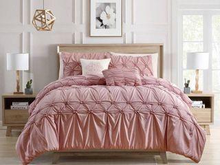 Westwood 5 Piece Smocked Comforter Set Queen  Retail 124 99