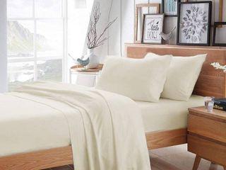 Pizuna 400 Thread Count 6 Piece Cotton Sheets Set  Beige   Queen  Retail 128 99