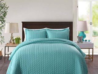 Porch   Den Heightsview lightweight 3 piece Quilted Bedspread Set King Retail  124 47