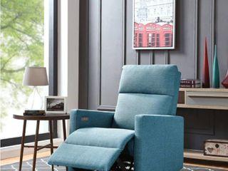 Carson Carrington Mosfellsdalur Turquoise Blue Power Recliner Chair  Retail   599 96