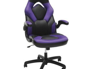 OFM Essentials Collection Racing Style Bonded leather Gaming Chair  in Purple  ESS 3085 PUR