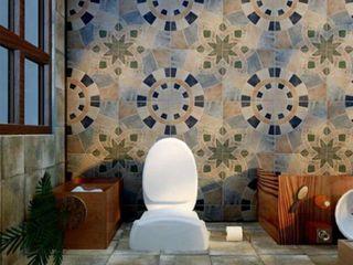 SomerTile 17 75x17 75 inch Cartaga Azul Ceramic Floor and Wall Tile  5 tiles 11 25 sqft
