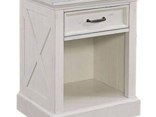 The Gray Barn Riverbone X detail White Wood Nightstand