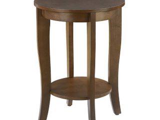 Convenience Concepts American Heritage Round End Table  Espresso