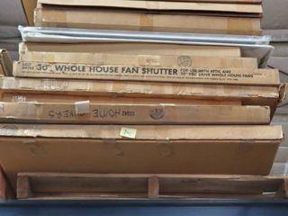 Pallet Of 30in Whole House Fan Shutter
