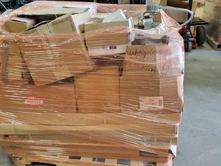 Pallet Of light Fixtures  Exit Signs And More