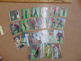 25 card set of Upper Deck Tiger Woods and Beckett Golf  1