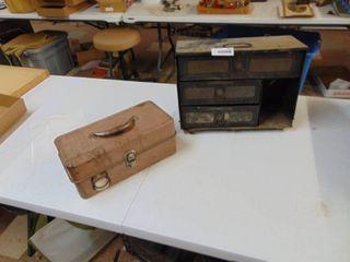 Vintage Fishing Tackle and Hardware Box