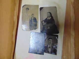 4 Tin Type Pictures