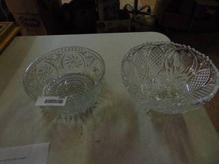 2 Glass Serving Bowls