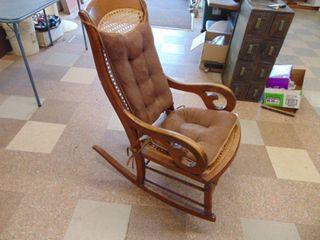Wicker Rocking Chair   Bad Seat