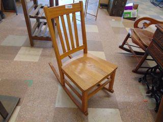 Small Oak Rocking Chair