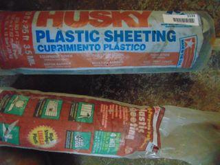 2 Rolls of Plastic Sheeting