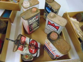Miscellaneous lot of Oil cans and More
