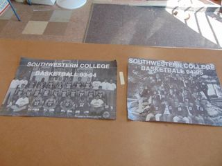 2 Autographed Southwestern College basketball posters Kyle Farrell Newton