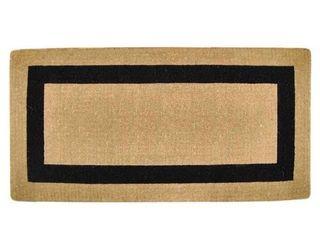 36in x 72in Heavy duty Coir Single Black Picture Frame Doormat