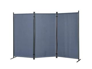 Galaxy Outdoor Indoor 3 panel Room Divider with Heavy Duty Metal Tubing Frame and Water Resistant Fabric