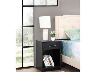 lindsey 1 drawer Nightstand   Black