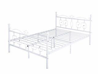 Furniture Conway Doublebed White Full Platform Bed Metal Platform Bed Frame