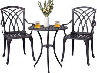 Nuu Garden Bistro Patio Chairs  Antique Bronze