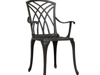 Antique Bronze Cast Aluminum Rust Proof Chair