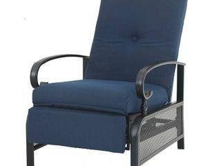PHI VIllA Adjustable Patio Metal Relaxing Recliner lounge Chair