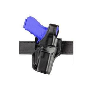 Safariland 070 level III Retention Duty Holster  Mid Ride  Black  Plain  Glock 17  22  Right Hand