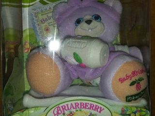 Briarberry Collection Baby Kristin Stuffed Purple Bear With Blanket   Bottle