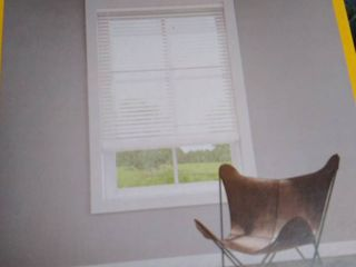 levolor 2 in White Faux Wood Blinds Precut To 66 X 64 In  Hardware Included
