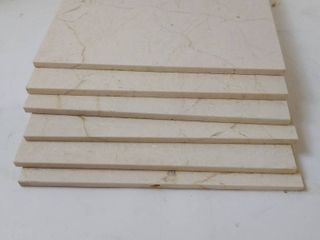 8 piece beige marble ceramic tile 1 foot squared