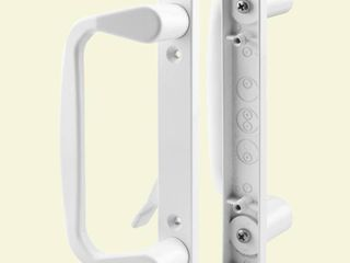 Prime line Products C 1178 Sliding Door Handle Set  Decorative  White