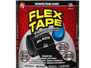 Flex TapeAr Black 4 IN x 5 FT Rubberized Waterproof Tape