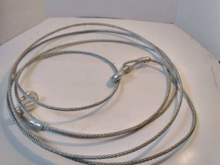 20 FT Silver Cable with hooks on both ends