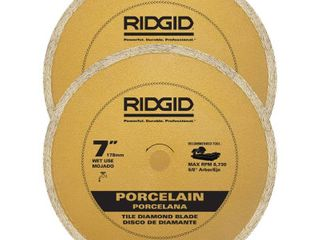 RIDGID 7 in  Tile Diamond Blade  2 Pack