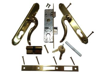 Grisham BP Il550 Slimline Double Cylinder Brass and Gold lockset
