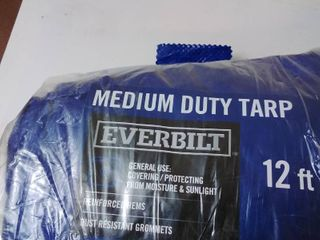 Everbilt Blue Medium Duty General Purpose Tarp Py004 12 Ft  X 16 Ft