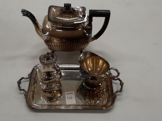 SIlVERPlATE TEAPOT   TRAY ASSORTED