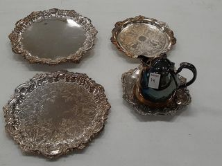 5  PIECES OF ASSORTED SIlVER PlATE