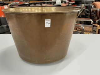 lARGE BRASS POT   12  H