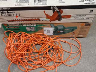2  HEDGE TRIMMERS AND EXTENSION CORD