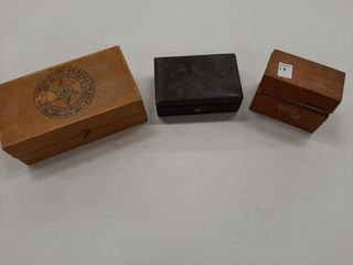 3  ASSORTED WOODEN BOXES