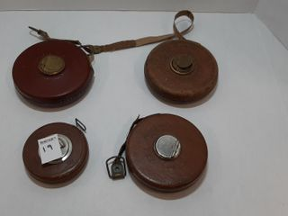 4  ASSORTED lUFKIN AND SHEFFIElD TAPE MEASURES