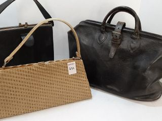 EARlY ATTACHE AND  2  HANDBAGS