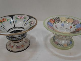 2  HANDPAINTED DISHES