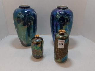 4  ASSORTED PORCElAIN VASES