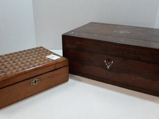2  COllECTIBlE WOODEN BOXES