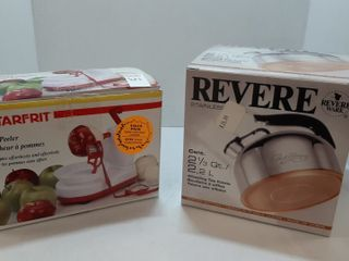 STARFRIT APPlE PEElER  REVERE TEA KETTlE